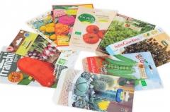 Enveloppes de papier pour semences.