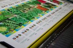 Impression spécialisée pour les semences et viviers pour fruits, légumes et fleurs.