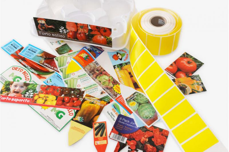 Etichette e cartellini con stampa personalizzata rapidit for Cartellini per piante